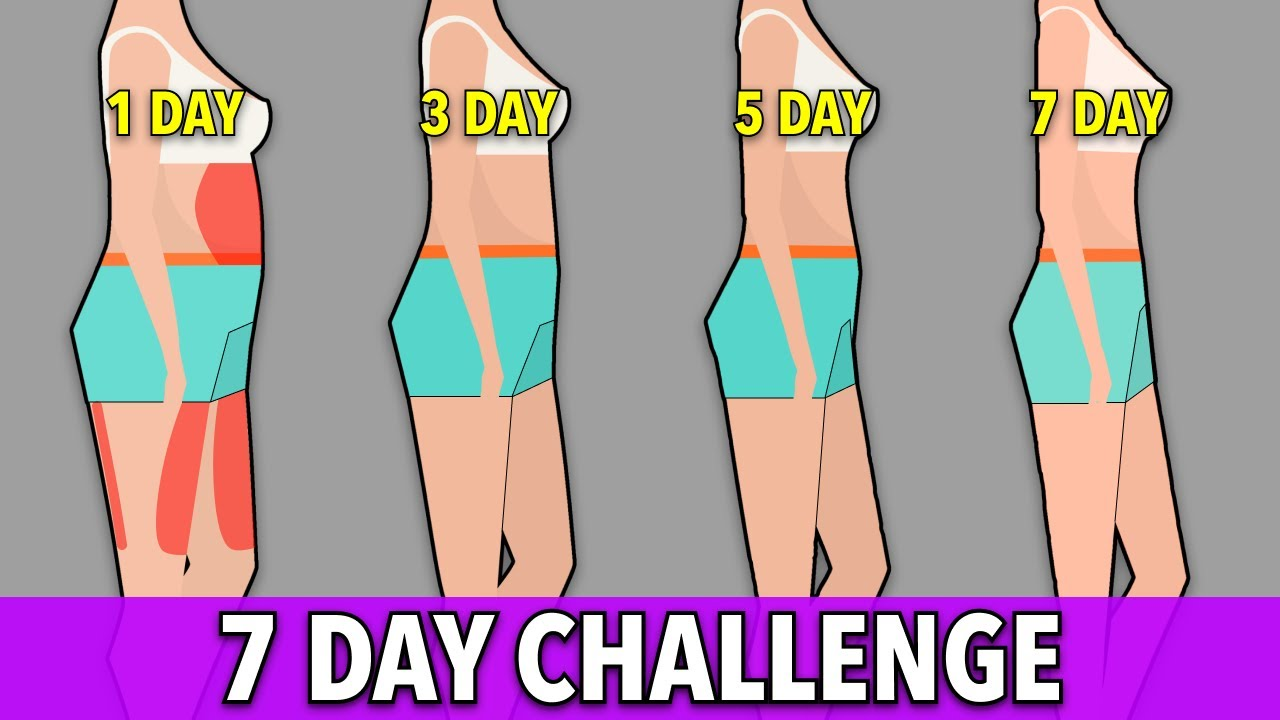 7 DAY CHALLENGE: Lose Belly + Thigh Fat