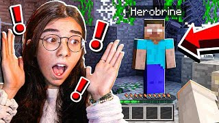She Wanted To HUNT For Herobrine...
