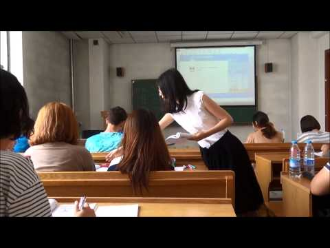 Sample Chinese lesson--U of A summer in Harbin
