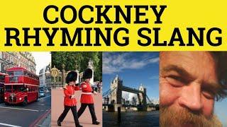 "ESL ""Cockney Rhyming Slang"" English Language Class 1101 British Pronunciation"