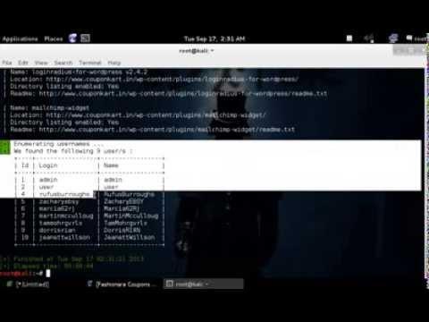 WPSCAN IN KALI LINUX Enumerating usernames tutorial