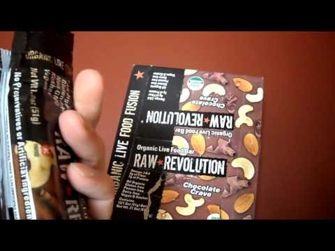 Review Raw Revolution Organic Live Food Bar Chocolate Raspberry Truffle Omega 3 protein Gluten free from YouTube · Duration:  2 minutes 46 seconds