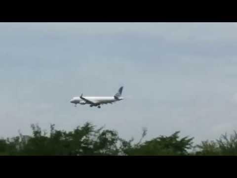 E190 Landing In Managua(MGA) From Panama(PTY) 17-07-15