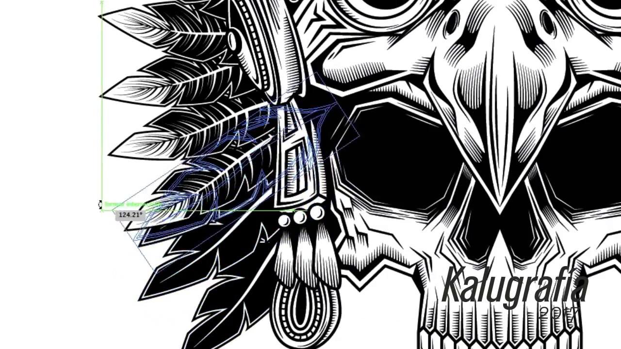 Proceso Penacho De Guerrero águila Illustrator Youtube