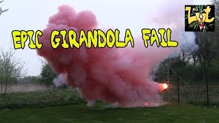 SPECIAL EPIC Red Smoke Girandola Firework (FAIL)