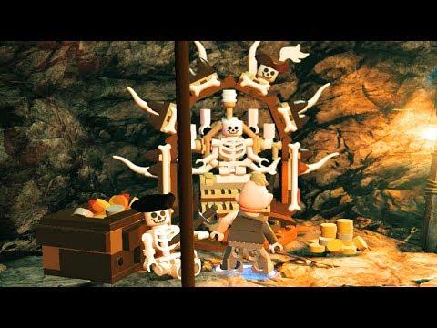 LEGO The Goonies Skull Key/Cave Scene & Build Skeleton Organ - LEGO Dimensions Level Pack
