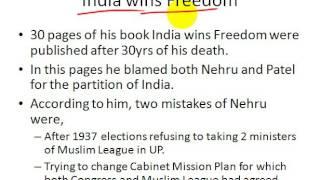 UPSC History Maulana Abul Kalam Azad