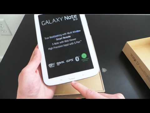 Samsung Galaxy Note 8.0 Unboxing