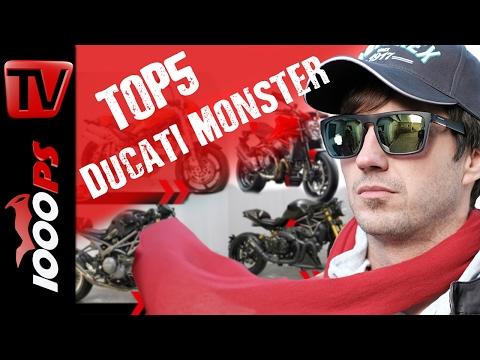 Top 5 - Die Lieblings Ducati Monster-Modelle von 1000PS