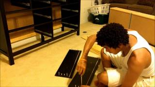 Assembling An Ikea Chest Of Drawers Hemnes 8 Drawers. Pt-2