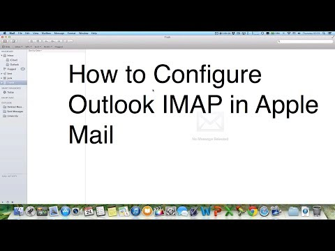 How To Configure Outlook Windows Live MSN Hotmail IMAP In Apple Mail On Mac OS X