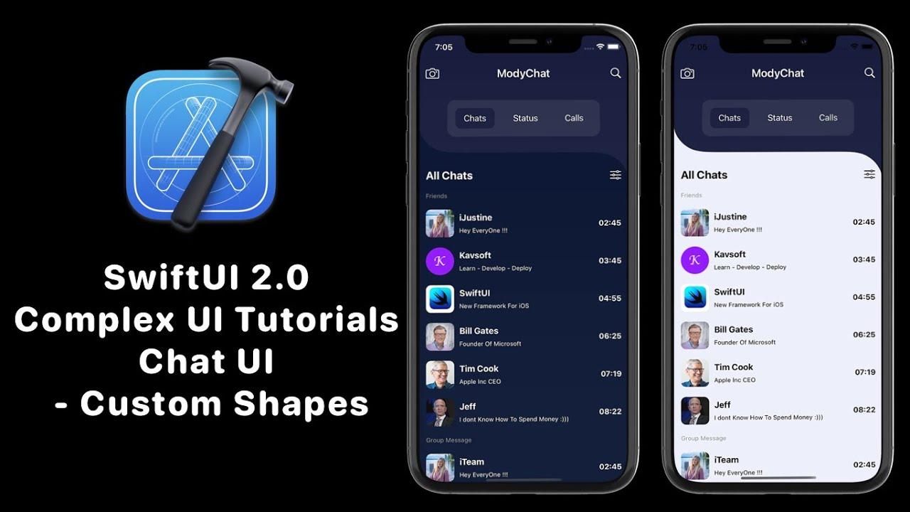 SwiftUI 2.0 Complex UI Tutorials - Custom Shapes - Messaging App UI