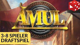 Amul (Remo Conzadori, Stefano Negro, Pegasus 2019) Kartendraftspiel für 3-8 Spieler