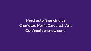 Cheap Auto Financing in Charlotte North Carolina