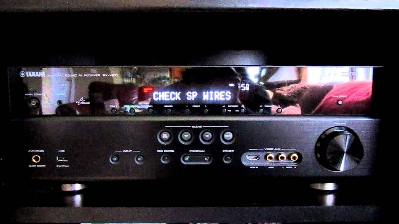 Yamaha Receiver Check Sp Wires Error06 08 12mov Youtube