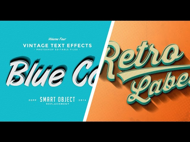 Vintage Text Effect - Smart Object Replacement - Adobe Photoshop cs6