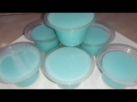 Resep Cara Membuat Puding Pop Ice Rasa Vanilla Blue