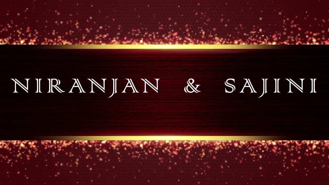 Wedding Invitation Video | Niranjan & Sajini | Save The Date Video ...