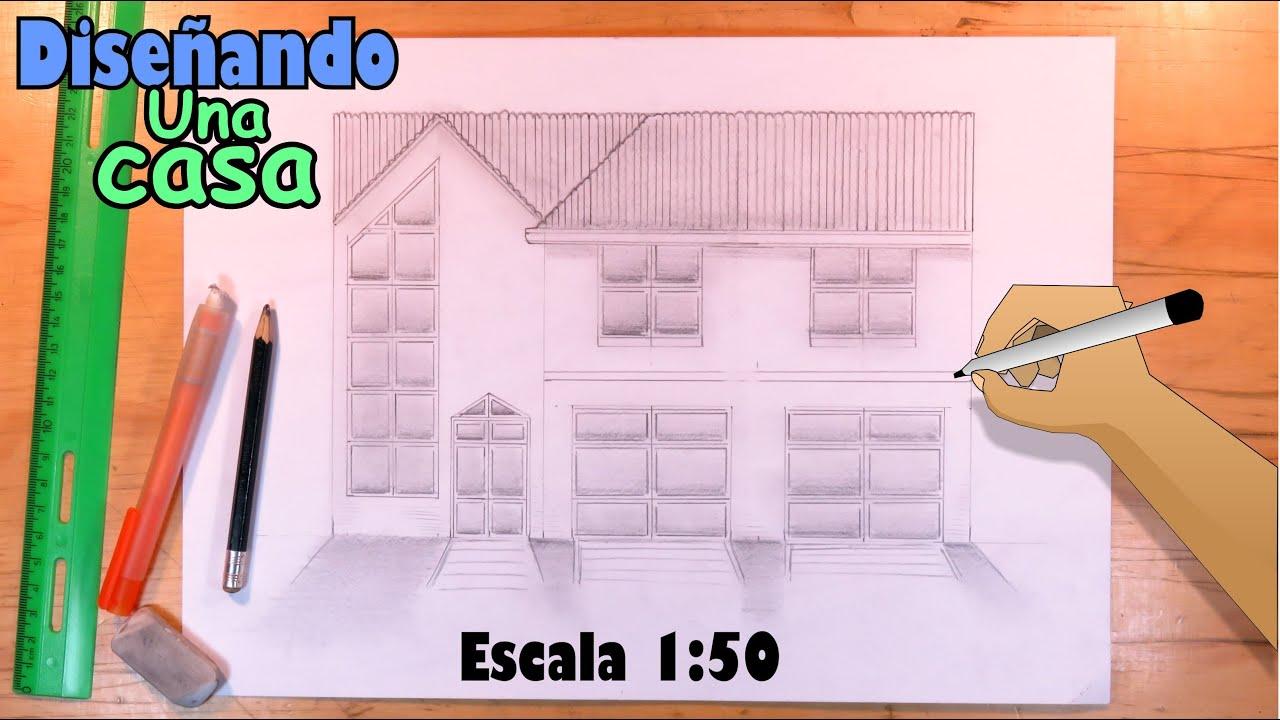 Cómo Diseñar una Casa de dos niveles a Lápiz, Escala 1:50