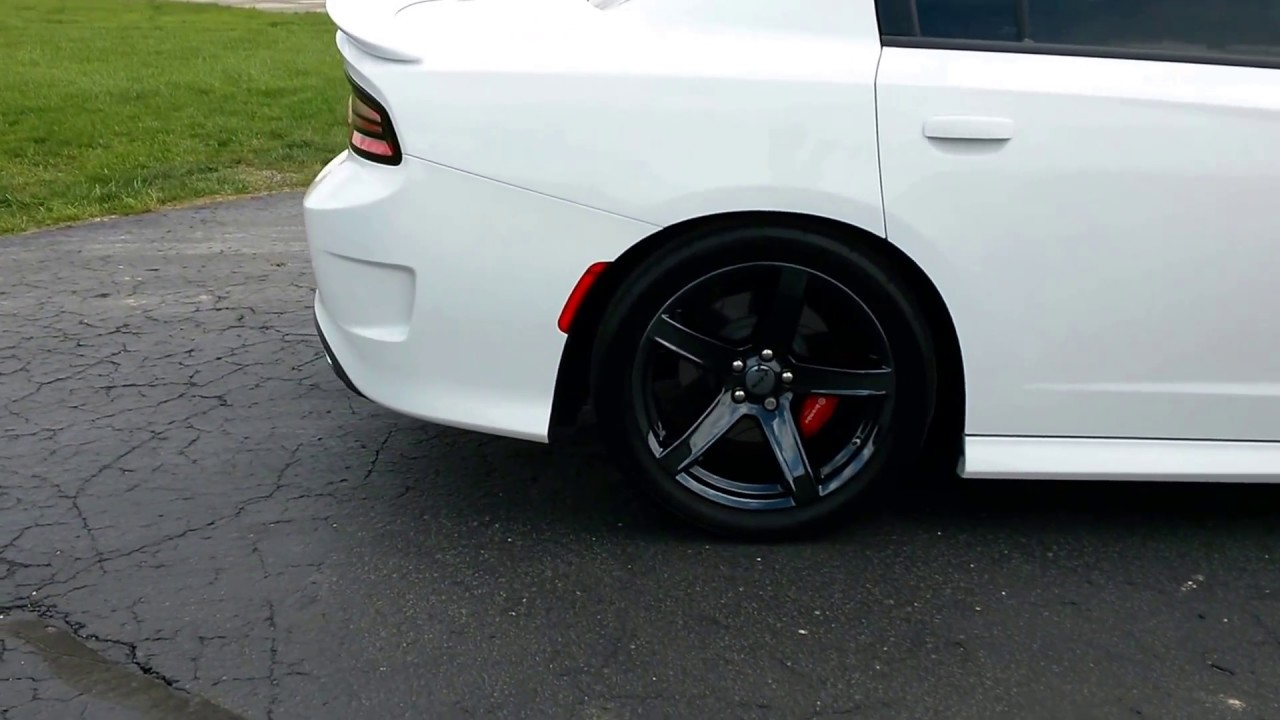 Dodge Charger Demon >> Dodge Charger SRT Hellcat with black chrome 5Deep wheels - YouTube