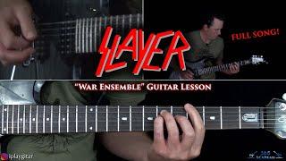 Slayer - War Ensemble Guitar Lesson (FULL SONG)