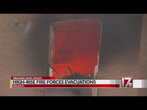 Residents, firefighters react after fire causes rush to evacuate downtown Raleigh high rise