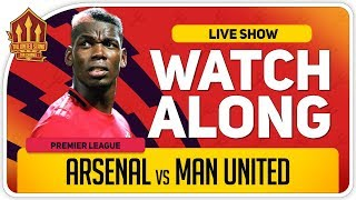 ARSENAL vs MANCHESTER UNITED | With Mark Goldbridge LIVE