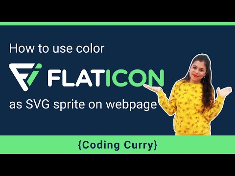 How To Use Color Flat Icon As SVG Sprite In A Webpage