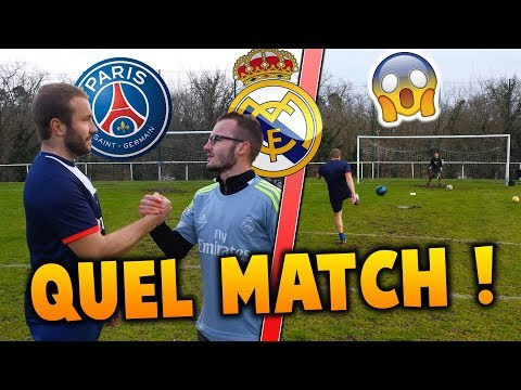 PSG - REAL MADRID ! INCROYABLE BUT ! QUEL MATCH !!