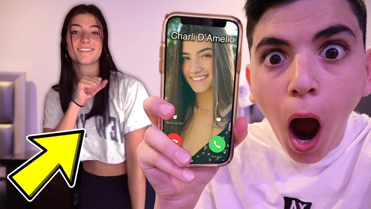 CALLING CHARLI D'AMELIO AT 3AM! (SHE MADE A TIKTOK IN MY HOUSE!) - YouTube