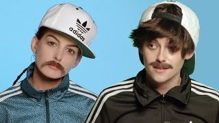 "Kristen Stewart & Anne Hathaway In DRAG For Jenny Lewis's ""Just One Of The Guys"" Video"