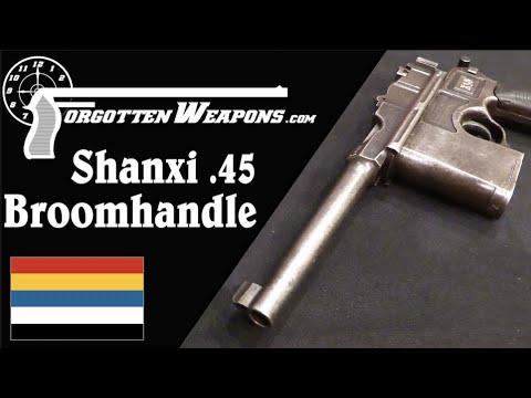 Chinese Warlord Pistols: The Huge Shanxi .45 ACP Broomhandle