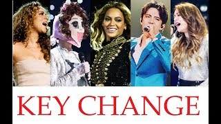 EPIC KEY CHANGE! - FAMOUS SINGERS