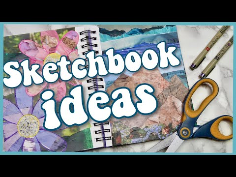 8 Ways to Use Collage in your Sketchbook/Art Journal! Art ideas for who people can't draw