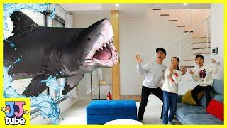 마법 리모콘으로 상어가 짠! 롯데월드 아쿠아리움 방학 …