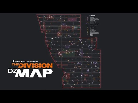The Division - The Most Detailed Dark Zone Map (All Loot And Boss Locations)
