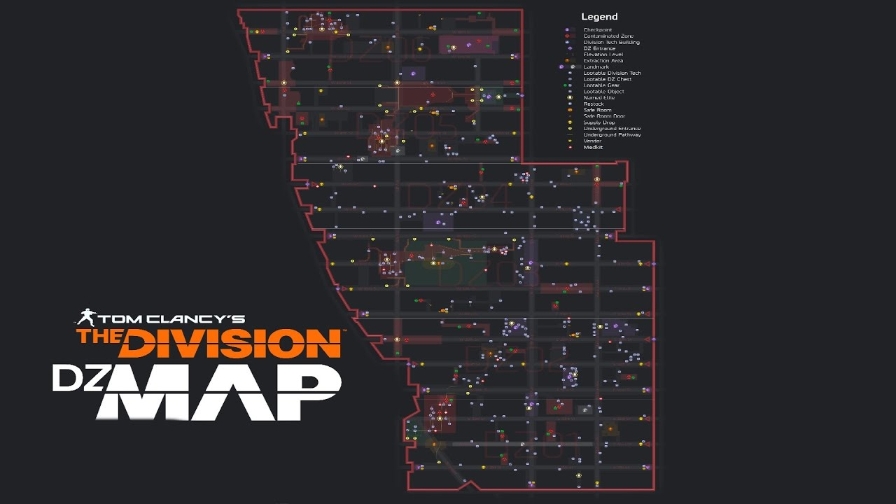 Map Of World Bosses In The Division.The Division The Most Detailed Dark Zone Map All Loot And Boss