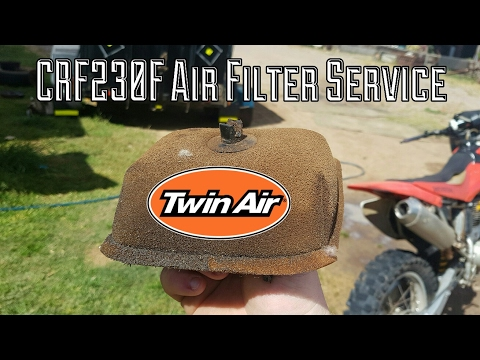 CRF Tutorial: How to clean the air filter on a CRF230F