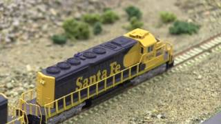 Hobby Fair 2017 * :HO Scale Model Trains in action Santa Fe  - From Jevnaker -  Norway