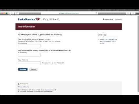 Bank Of America Online Banking Login