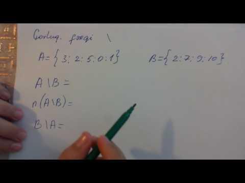 Coxluqlar Coxluqlarin Birlesmesi Kesismesi Ferqi Youtube