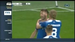 2018 (October 11) France 2 -Iceland 2 (Friendly)