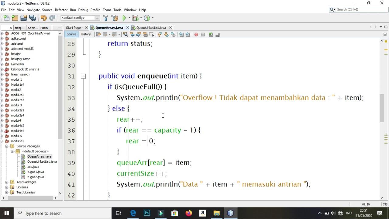 Queue & Searching Java #1 | Queue dengan Array - YouTube