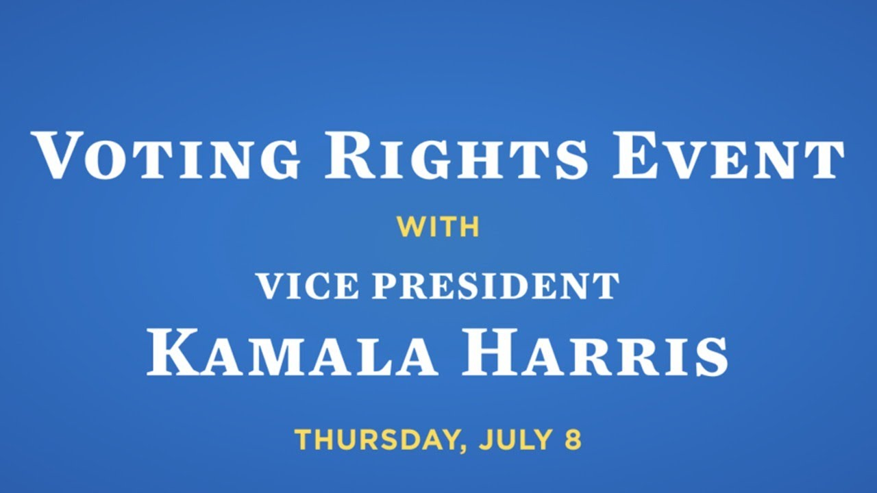 Voting Rights Event with Kamala Harris