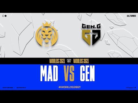 WORLDS 2021 - GROUPSTAGE DAY 2 - MAD vs GEN
