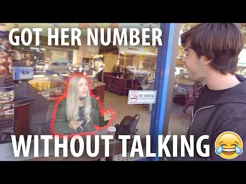 GOT HER NUMBER WITHOUT TALKING!