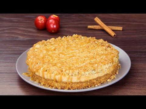 gâteau-au-fromage,-aux-pommes-et-au-caramel-–-un-dessert-crémeux,-délicat-et-délicieux-!