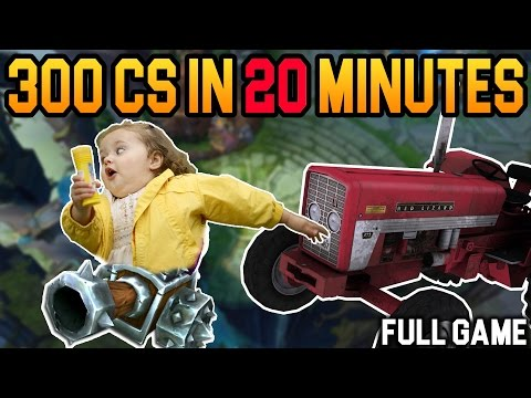 FARMING SIMULATOR - New top lane CS record? - Challenger takes on Diamond elo hell