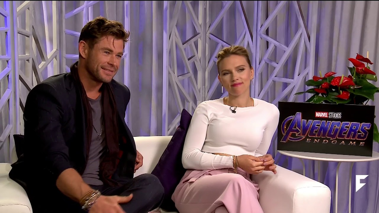 AVENGERS ENDGAME - SCARLETT JOHANSON AND CHRIS HEMSWORTH INTERVIEW ...