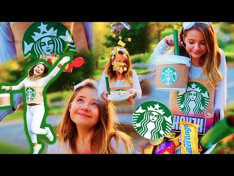 Diy Starbucks Costume No Sew Fallingintofall Youtube